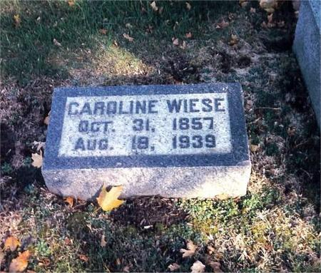 WIESE, CAROLINE - Clinton County, Iowa | CAROLINE WIESE