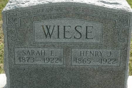 WIESE, HENRY J. - Clinton County, Iowa | HENRY J. WIESE