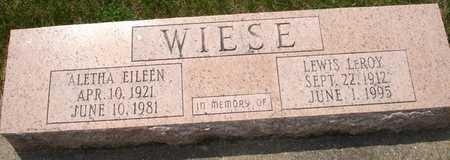 WIESE, LEWIS LEROY - Clinton County, Iowa | LEWIS LEROY WIESE