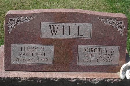 WILL, DOROTHY A. - Clinton County, Iowa   DOROTHY A. WILL