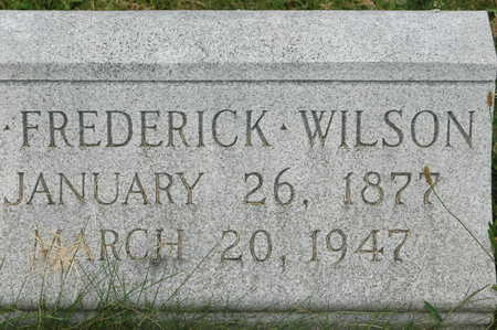 WILSON, JOHN FREDERICK - Clinton County, Iowa   JOHN FREDERICK WILSON