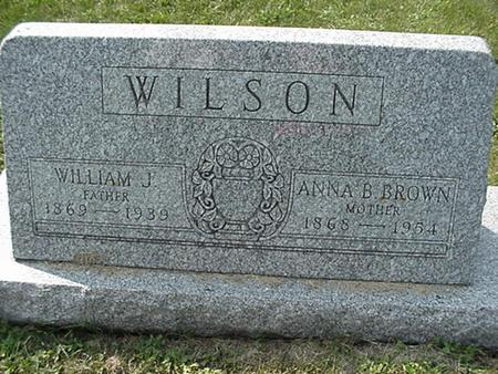 BROWN WILSON, ANNA - Clinton County, Iowa | ANNA BROWN WILSON