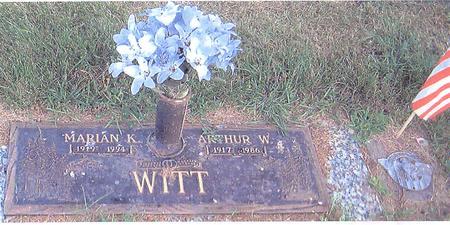 WITT, ARTHUR W. - Clinton County, Iowa | ARTHUR W. WITT