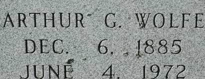 WOLFE, ARTHUR G. - Clinton County, Iowa   ARTHUR G. WOLFE