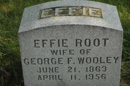 ROOT WOOLEY, EFFIE - Clinton County, Iowa | EFFIE ROOT WOOLEY