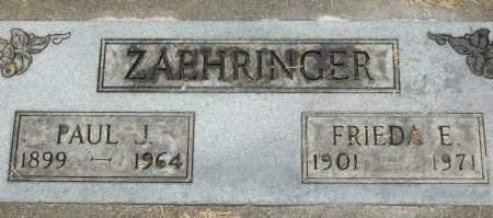 ZAEHRINGER, PAUL J. - Clinton County, Iowa | PAUL J. ZAEHRINGER