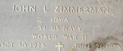 ZIMMERMAN, JOHN L. - Clinton County, Iowa | JOHN L. ZIMMERMAN