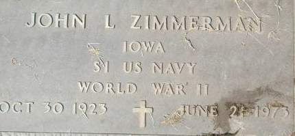 ZIMMERMAN, JOHN L. - Clinton County, Iowa   JOHN L. ZIMMERMAN