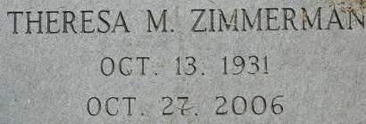 ZIMMERMAN, THERESA M. - Clinton County, Iowa | THERESA M. ZIMMERMAN