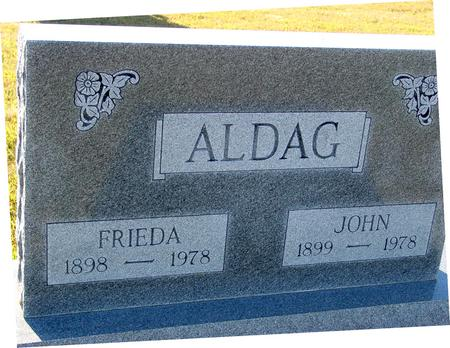 ALDAG, JOHN & FRIEDA - Crawford County, Iowa | JOHN & FRIEDA ALDAG
