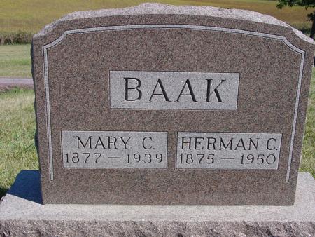 BAAK, HERMAN & MARY C. - Crawford County, Iowa | HERMAN & MARY C. BAAK