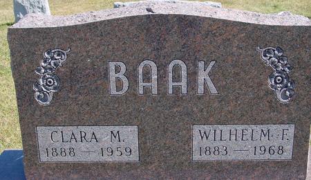 BAAK, WILHELM & CLARA - Crawford County, Iowa | WILHELM & CLARA BAAK