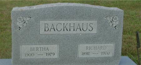 BACKHAUS, RICHARD & BERTHA - Crawford County, Iowa | RICHARD & BERTHA BACKHAUS