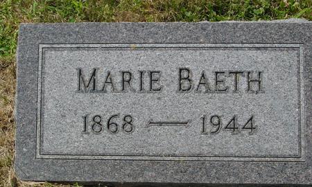 BAETH, MARIE - Crawford County, Iowa | MARIE BAETH