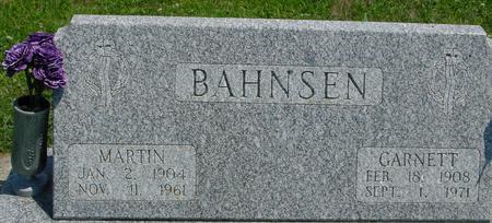 BAHNSEN, GARNETT - Crawford County, Iowa   GARNETT BAHNSEN