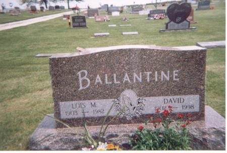 BALLANTINE, DAVID - Crawford County, Iowa | DAVID BALLANTINE