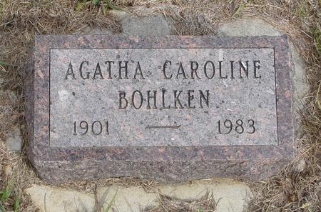 BOHLKEN, AGATHA CAROLINE - Crawford County, Iowa | AGATHA CAROLINE BOHLKEN