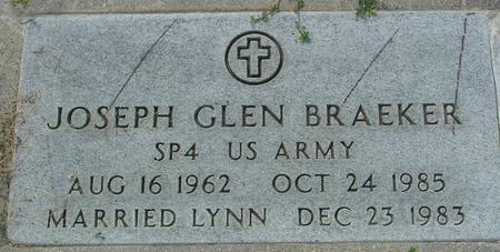 BRAEKER, JOSEPH GLEN - Crawford County, Iowa   JOSEPH GLEN BRAEKER