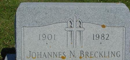 BRECKLING, JOHANNES N. - Crawford County, Iowa   JOHANNES N. BRECKLING
