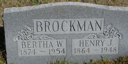 BROCKMAN, HENRY J. & BERTHA - Crawford County, Iowa   HENRY J. & BERTHA BROCKMAN