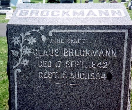 BROCKMANN, CLAUS - Crawford County, Iowa   CLAUS BROCKMANN