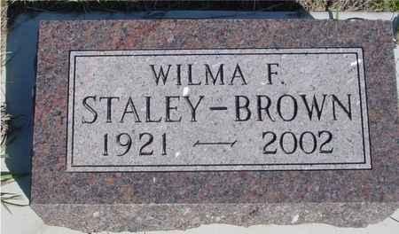 STALEY BROWN, WILMA F. - Crawford County, Iowa | WILMA F. STALEY BROWN