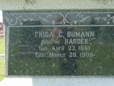 HARDER BUMANN, FRIDA C. - Crawford County, Iowa | FRIDA C. HARDER BUMANN