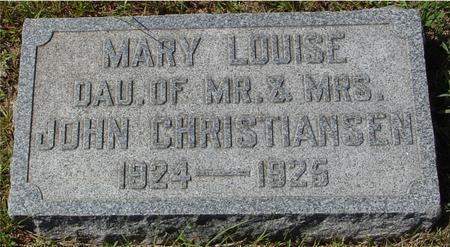 CHRISTIANSEN, MARY LOUISE - Crawford County, Iowa | MARY LOUISE CHRISTIANSEN