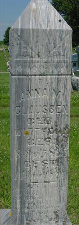 CLAUSSEN, ANNA M. - Crawford County, Iowa | ANNA M. CLAUSSEN