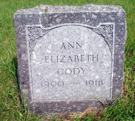 CODY, ANN ELIZABETH - Crawford County, Iowa | ANN ELIZABETH CODY