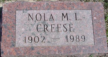 CREESE, NOLA M. L. - Crawford County, Iowa | NOLA M. L. CREESE