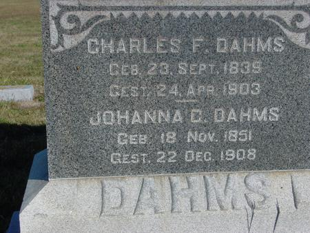 DAHMS, CHARLES & JOHANNE - Crawford County, Iowa   CHARLES & JOHANNE DAHMS