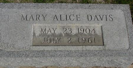 DAVIS, MARY ALICE - Crawford County, Iowa | MARY ALICE DAVIS