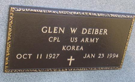 DEIBER, GLEN W. - Crawford County, Iowa | GLEN W. DEIBER