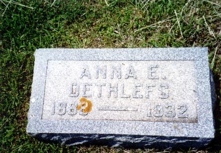 DETHLEFS, ANNA E. - Crawford County, Iowa   ANNA E. DETHLEFS