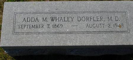 WHALEY DORFLER, ADDA M. - Crawford County, Iowa | ADDA M. WHALEY DORFLER