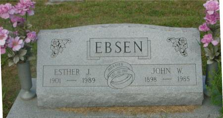 EBSEN, JOHN W. & ESTHER - Crawford County, Iowa | JOHN W. & ESTHER EBSEN