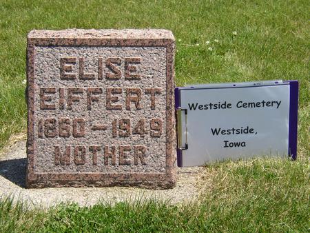 EIFFERT, ELISE - Crawford County, Iowa   ELISE EIFFERT