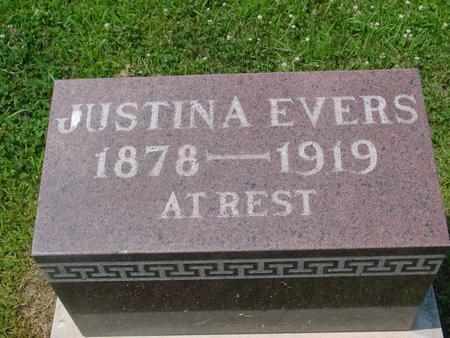 EVERS, JUSTINA - Crawford County, Iowa | JUSTINA EVERS