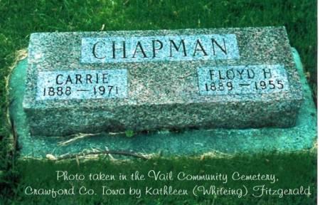 CHAPMAN, FLOYD H. & CARRIE (SLEGEL) - Crawford County, Iowa | FLOYD H. & CARRIE (SLEGEL) CHAPMAN