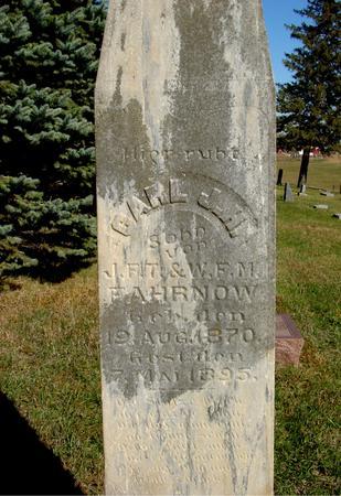 FAHRNOW, CARL - Crawford County, Iowa   CARL FAHRNOW