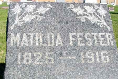 FESTER, MATILDA - Crawford County, Iowa | MATILDA FESTER