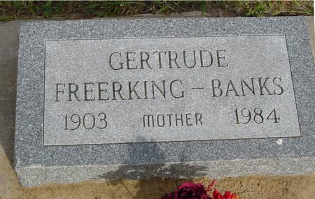 FREERKING BANKS, GERTRUDE - Crawford County, Iowa | GERTRUDE FREERKING BANKS