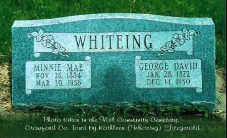 WHITEING, GEORGE D. & MINNIE M. (BOHNKER) - Crawford County, Iowa | GEORGE D. & MINNIE M. (BOHNKER) WHITEING