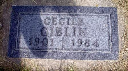 GIBLIN, CECILE - Crawford County, Iowa | CECILE GIBLIN