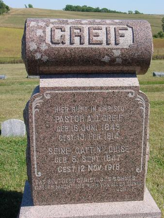 GREIF, PASTOR A. D. - Crawford County, Iowa | PASTOR A. D. GREIF