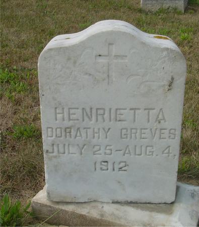 GREVES, HENRIETTA DORATHY - Crawford County, Iowa   HENRIETTA DORATHY GREVES