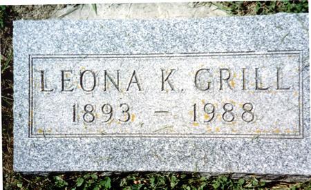 GRILL, LEONA K - Crawford County, Iowa   LEONA K GRILL