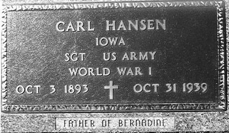 HANSEN, CARL - Crawford County, Iowa   CARL HANSEN