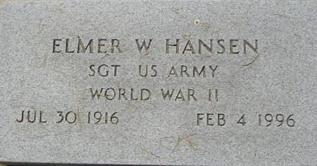 HANSEN, ELMER W. - Crawford County, Iowa | ELMER W. HANSEN